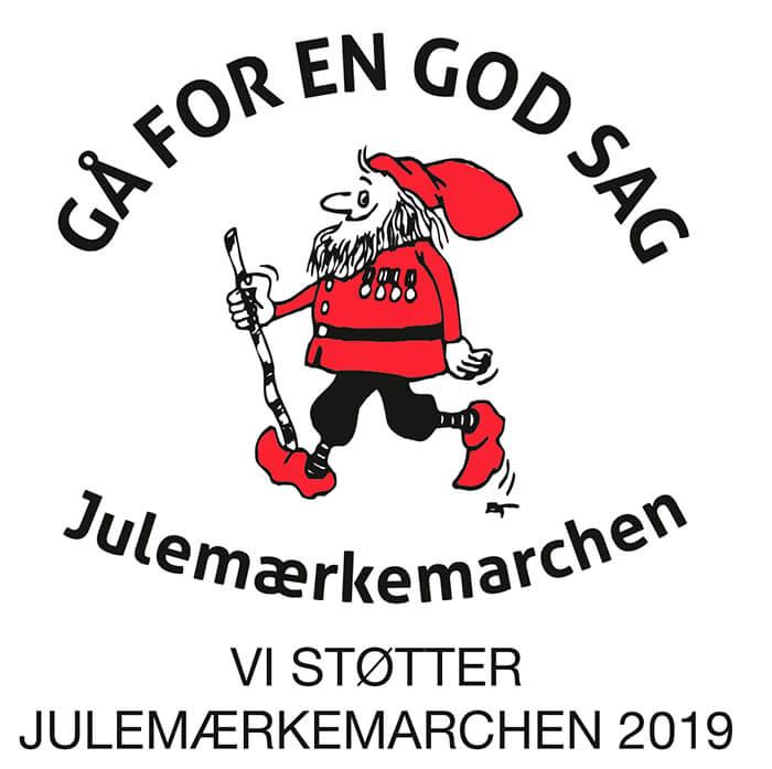 Vi støtter julemærkemarchen 2019